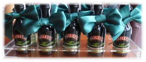 Plastic holder for Mini-baileys